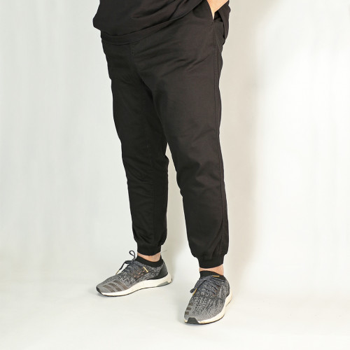 Organic Stretch Twill Jogger - Blackberry