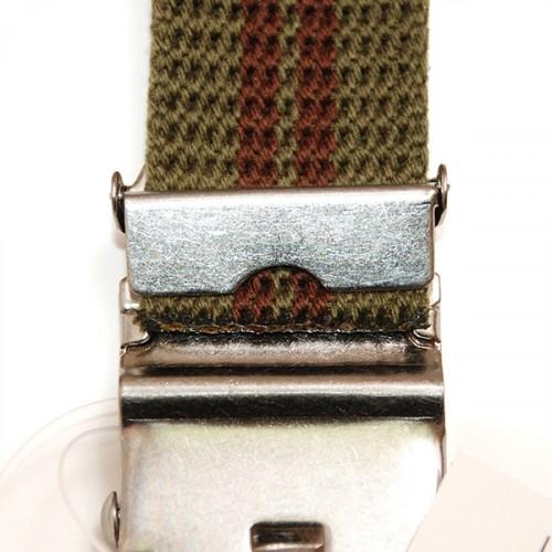 Extra Long Casual Web Belt - Green/Wine