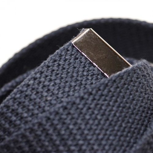Long Casual Web Belt - Navy