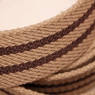 Long Casual Web Belt - Brown/Beige