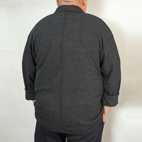 Knit Blazer - Black Heather