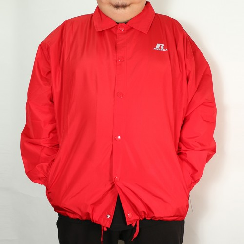 Coaches Heavy Nylon Jacket - Red