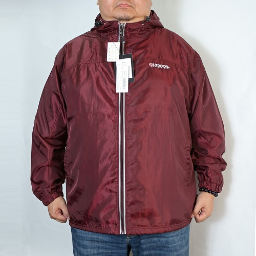 Breathable Back Mesh Windbreaker - Wine