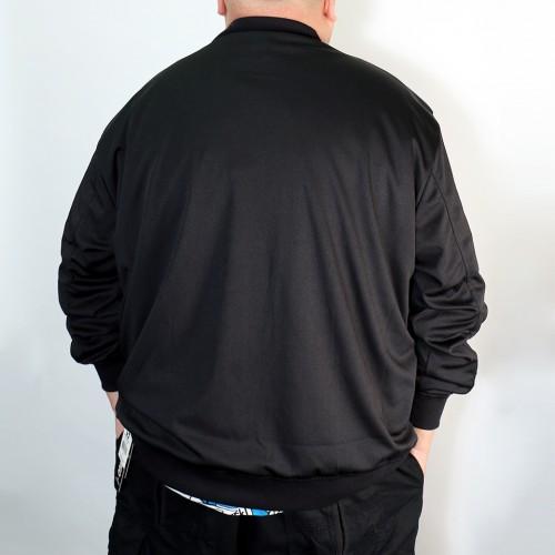 Smooth Lining Photo Print MA-1 Jacket - Black