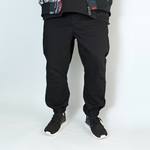 Stretch Twill Joggers - Black