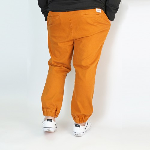 Stretch Twill Joggers - Camel