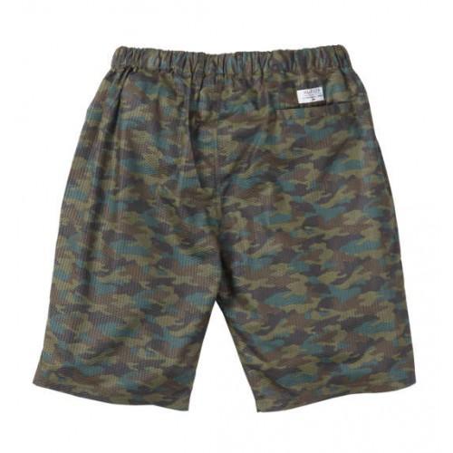Ripple Camouflage Pattern Half Pants - Green