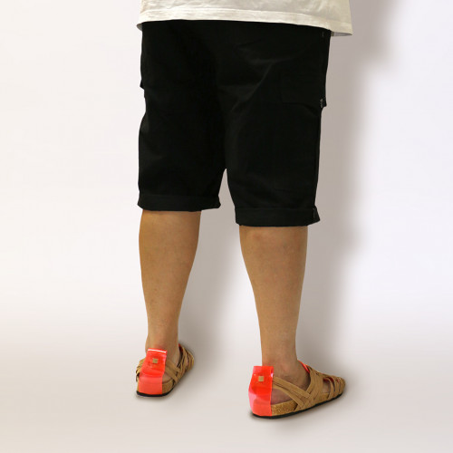 Classic Fit Chino Cargo Shorts - Ebony