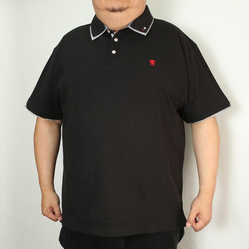 鹿の子 Simple Polo - Black