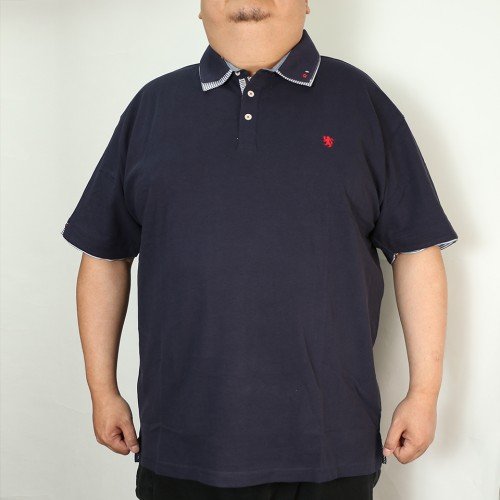 鹿の子 Simple Polo - Navy