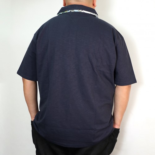 Slab Tenjiku Polo Shirt - Navy