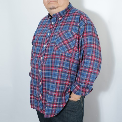 Tarten Check Pattern B.D. Shirt - Navy/Red