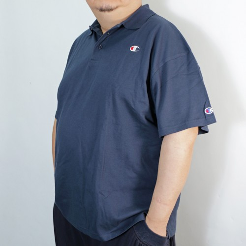 Left Chest Logo Polo Shirt - Navy