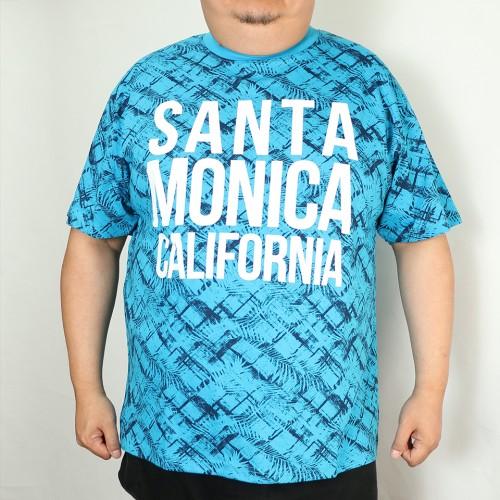 Santa Monica California Tee - Blue