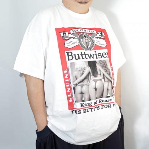 Buttwiser Tee - White
